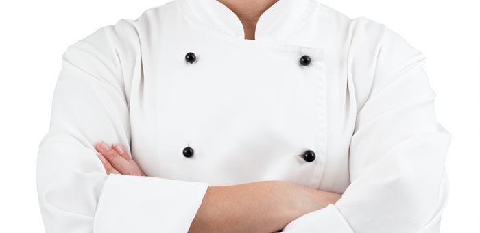 An image of a Chef wearing clean chef white