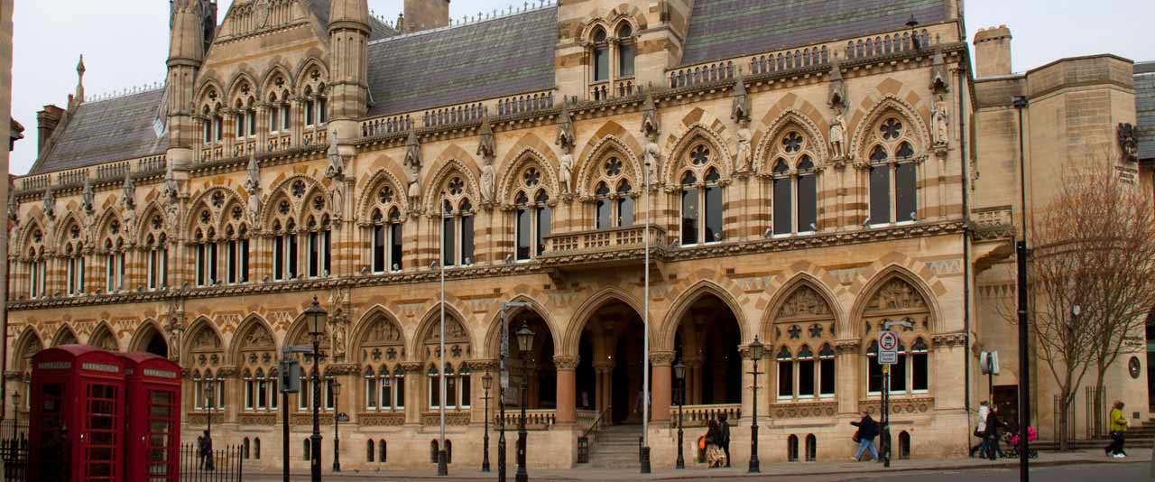 An image showing the Guildhall in Northampton
