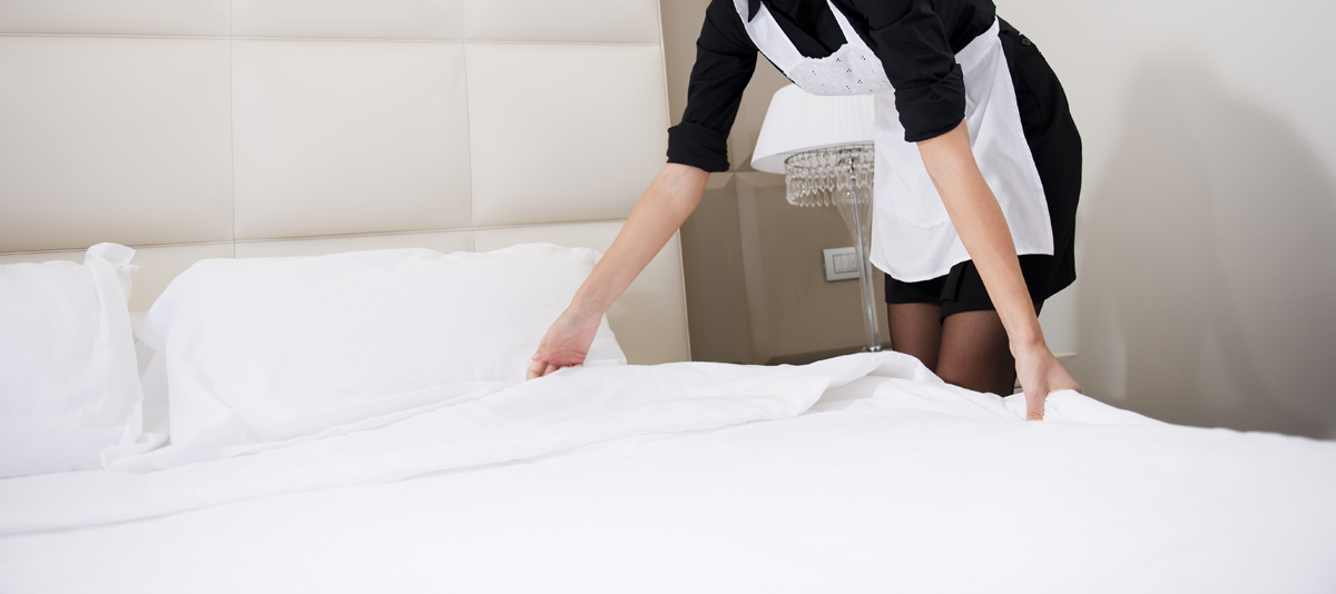 Am image showing Hotel linen services offered by Queens Drive Laundry in St Albans