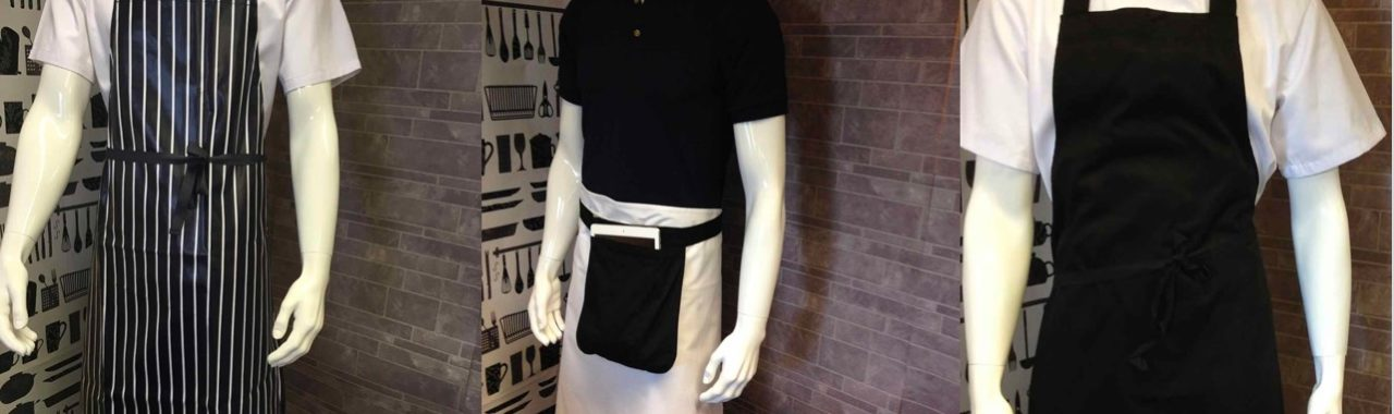 An image of chef and kitchen wear that is available for hire or purchase from Queens Drive Laundry