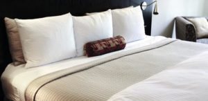 An image showing hotel bed linen hire from Queens Drive Laundry