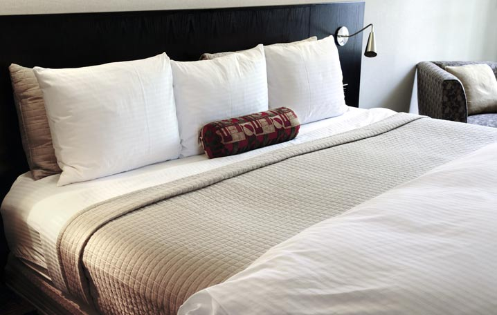 An image of quality linen hired from Queens Drive Laundry