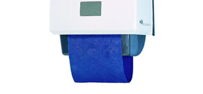 An image of a roller towel unit.