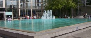 An image showing a water fountain in central Milton Keynes