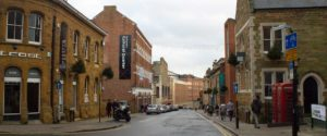 An image of Northampton town centre, an area Queens Drive Laundry service.