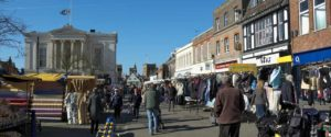 An image showing St Albans town centre where Queens Drive Laundry offer their services