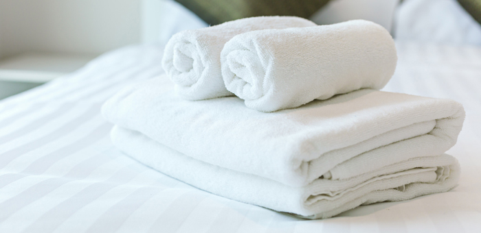 An image showing linen purchased by Queens Drive Laundry