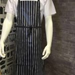 An image of a PVC butchers stripe apron.