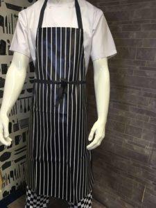 An image of a PVC butchers stripe apron.