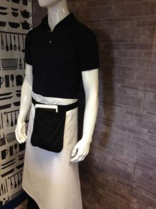 An image of a waiters, tablet apron.