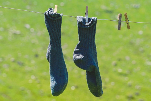 socks on washing line