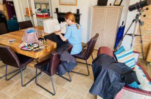 Bedford Seamstress Making Scrubs